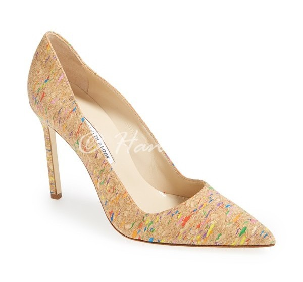 "Manolo Blahnik ""BB"" cork pump"